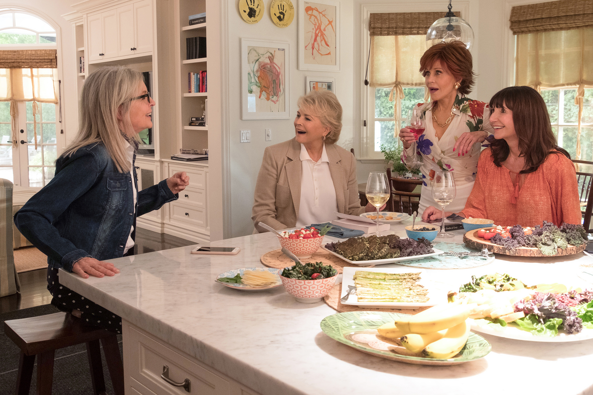 (L-R) Diane Keaton, Candice Bergen, Jane Fonda, Mary Steenburgen in the film, BOOK CLUB, by Paramount Pictures